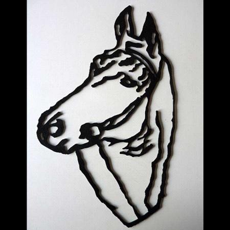 Pferdekopf Edelrost Metall - Stahl natur