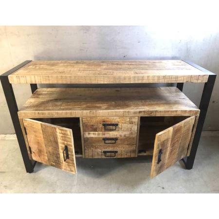 Sideboard Anrichte Mango industrial Irok Massivholz 135 cm