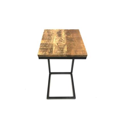 Holz industrial Beistelltisch Irok 60 cm hoch Sofatisch