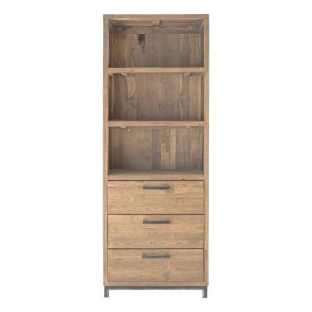 Regalschrank Teak Holz recycelt Mari naturfarben 195 cm