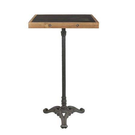 Bistro Stehtisch Teak Holz Eisen Pray kolonial 105 cm