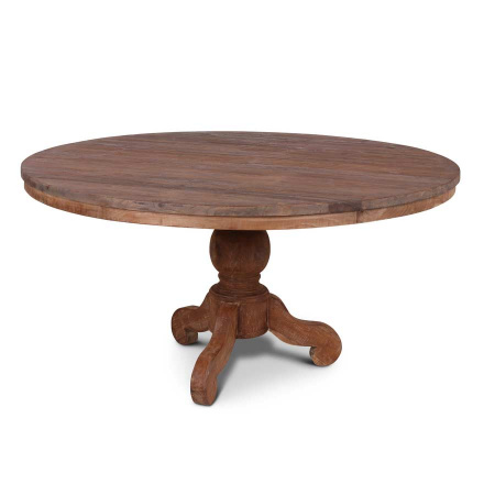 Massivholz Tisch Lea rund rustikal 130 cm