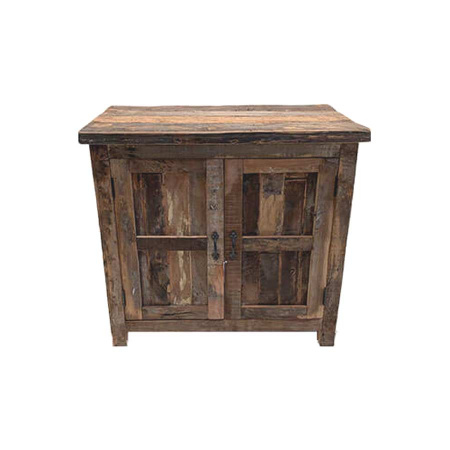 Sideboard grobes Altholz Shabby Chic Anrichte 80 cm
