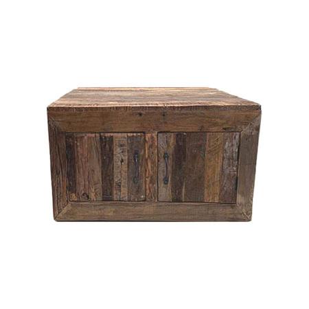 Holz Couchtisch multifunktional 4 Schubladen Klapptueren 120 cm