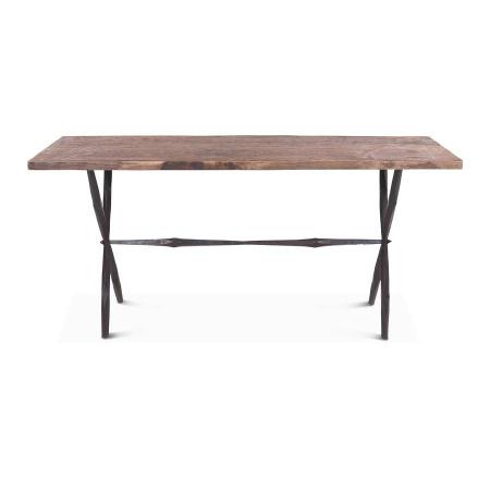 Wandtisch Altholzplatte Eisengestell MassivO 160 cm