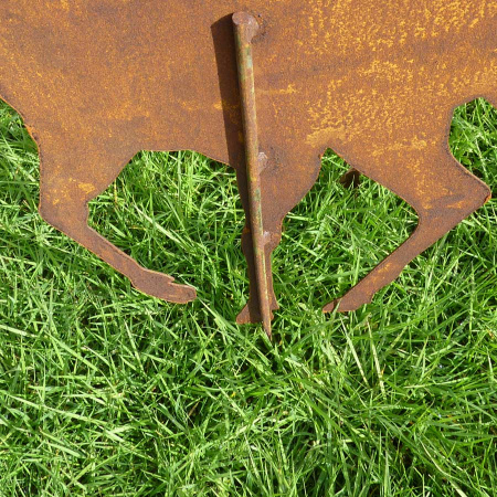 Hirsch Metall Rost Deko Gartenstecker 90 cm