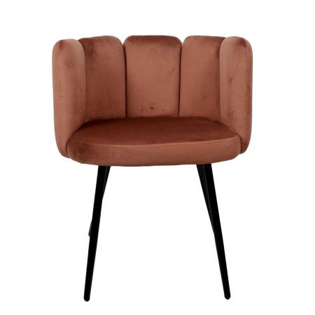 Esszimmer Stuhl Rückenlehne Sada Samt Velvet copper