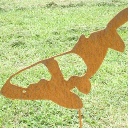 Koifisch Metalll Gartenteich Dekoration