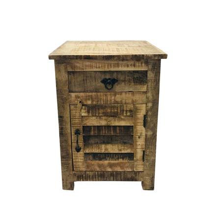 Holz Nachttisch Kommode Louvre Vintage 63 cm