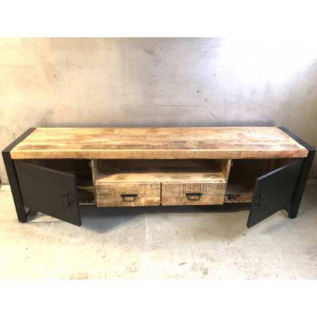 TV Board Industrie Design Irok Holz Metall 200 cm