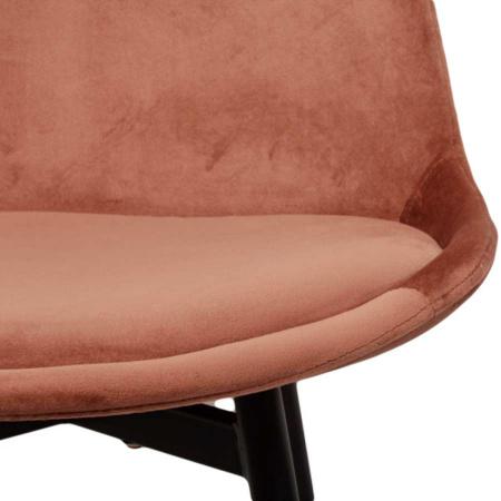 Stuhl Esszimmer Flora Velvet Samt copper