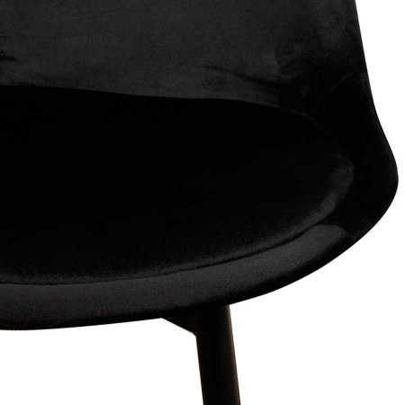Stuhl Esszimmer Flora Velvet Samt schwarz