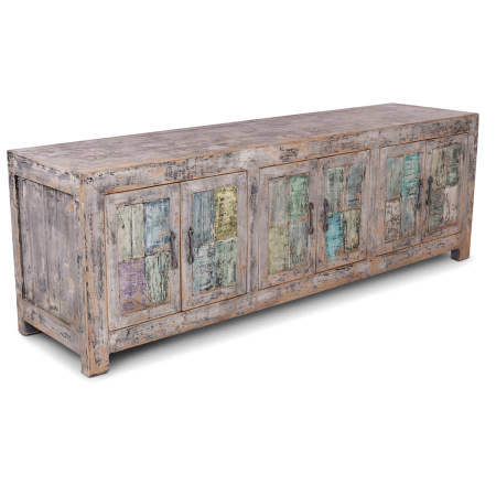 TV Board Kiefer Holz Shabby Chic mehrfarbig 180 cm