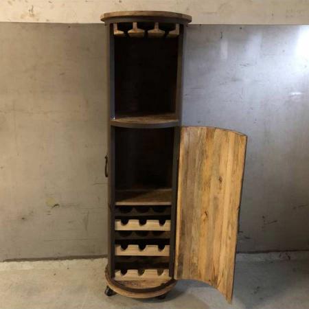 Vintage Wein Schrank Flaschenregal Weinbar auf Rollen 150 cm