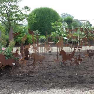 Ausstellung Garten Skulpturen Baumschule