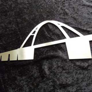 Metall Brücke Fehmarn aus Edelstahl