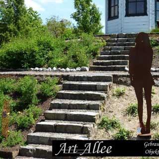Figur Frau Metall Kunst Garten