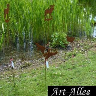 Gartenausstellung Stahltiere mit Bodenstecker