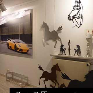 Lamborghini auf Leinwand bei Art Allee