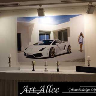 Art Allee Ausstellung Metallobjekte & Kunst auf Leinwand