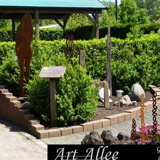 Kunstobjekte aus Stahl für den Garten