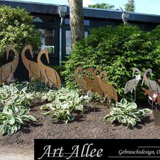 Metall Fischreiher Ausstellung Garten