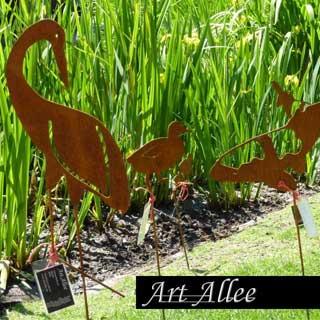 Metall Tiere mit Bodenstecker zur Gartendeko