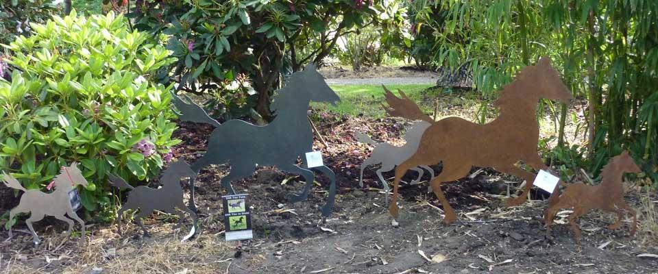 Edelstahl und Edelrost Tiere aus Metall