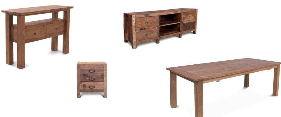 Möbel Massivholz und Metall im Vintage Design